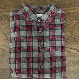 J. Crew Boyfriend Cut Plaid Flannel Shirt